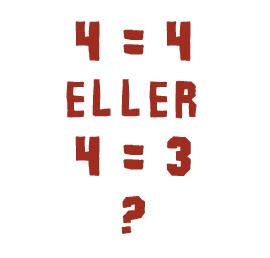 Når 4 bliver til 3.